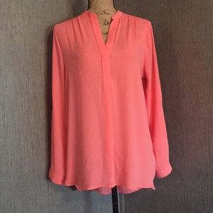 Sheer coral top size L